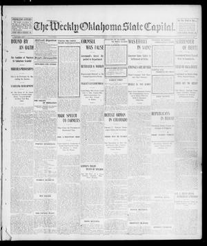 Primary view of object titled 'The Weekly Oklahoma State Capital. (Guthrie, Okla.), Vol. 16, No. 23, Ed. 1 Saturday, September 13, 1902'.