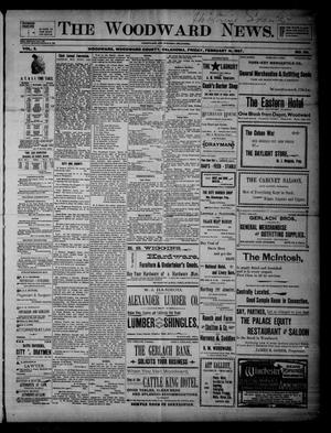 Primary view of object titled 'The Woodward News. (Woodward, Okla.), Vol. 3, No. 39, Ed. 1 Friday, February 19, 1897'.