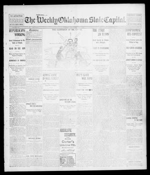 Primary view of object titled 'The Weekly Oklahoma State Capital. (Guthrie, Okla.), Vol. 14, No. 27, Ed. 1 Saturday, October 4, 1902'.