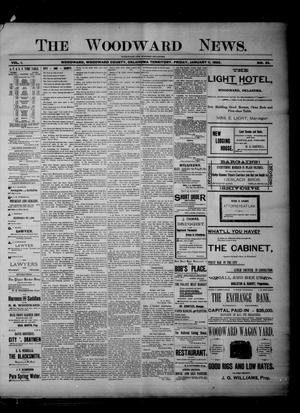 Primary view of object titled 'The Woodward News. (Woodward, Okla. Terr.), Vol. 1, No. 33, Ed. 1 Friday, January 11, 1895'.