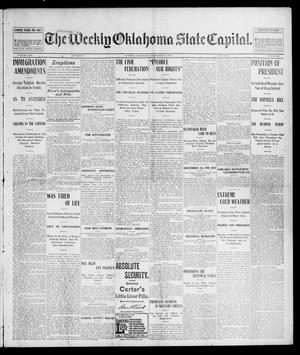 Primary view of object titled 'The Weekly Oklahoma State Capital. (Guthrie, Okla.), Vol. 14, No. 37, Ed. 1 Saturday, December 13, 1902'.