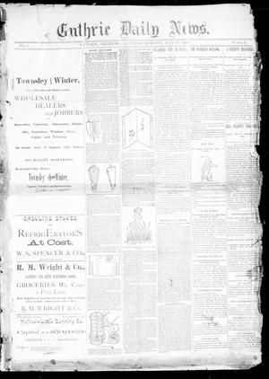 Primary view of object titled 'Guthrie Daily News. (Guthrie, Okla.), Vol. 1, No. 11, Ed. 1 Saturday, July 27, 1889'.