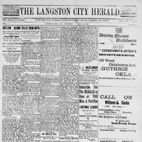 The Langston City Herald (Langston City, O.T.)